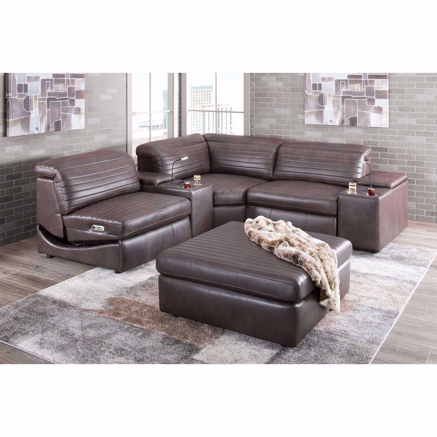 Picture of Jett Leather Ottoman