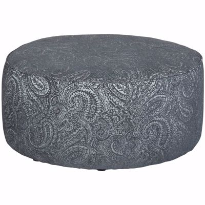 Picture of Hamptons Dark Blue Paisley Cocktail Ottoman