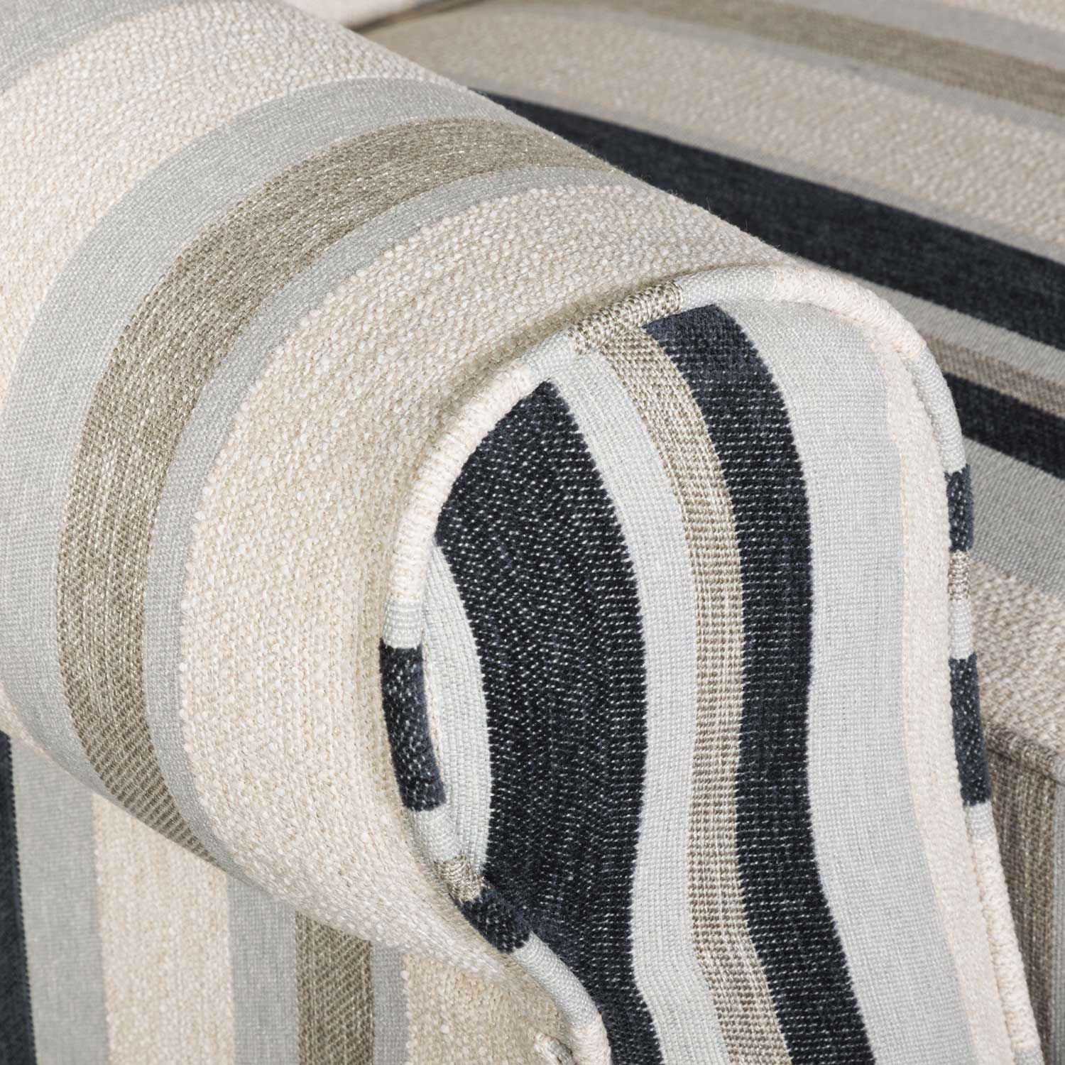 Picture of Hamptons Cobalt Stripe Accent Chair