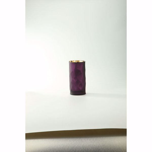 Picture of Plum Glass Cylinder Vase