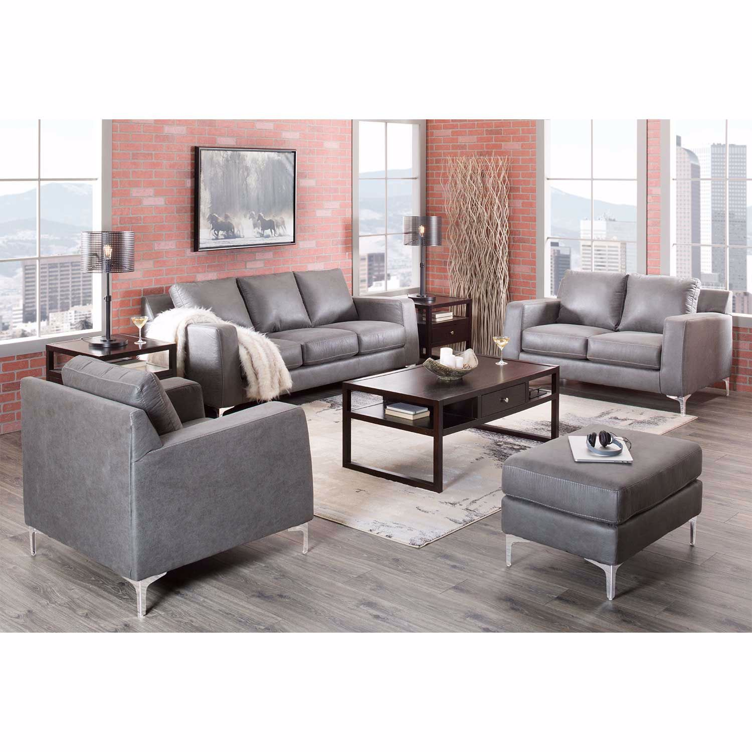 Picture of Ryler Charcoal Ottoman