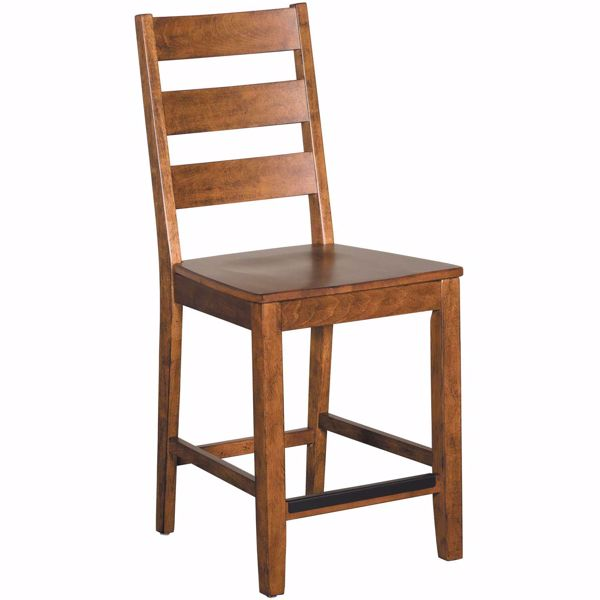 Picture of Copper Ladder Back Barstool