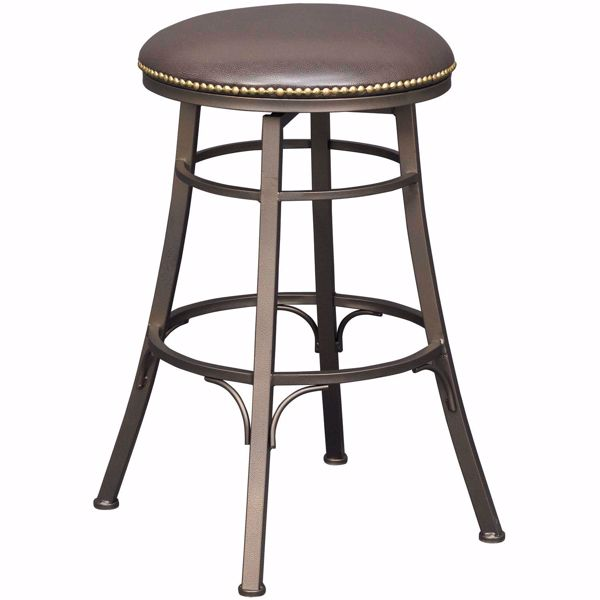 "Picture of Bali 30"" Backless Swivel Barstool"