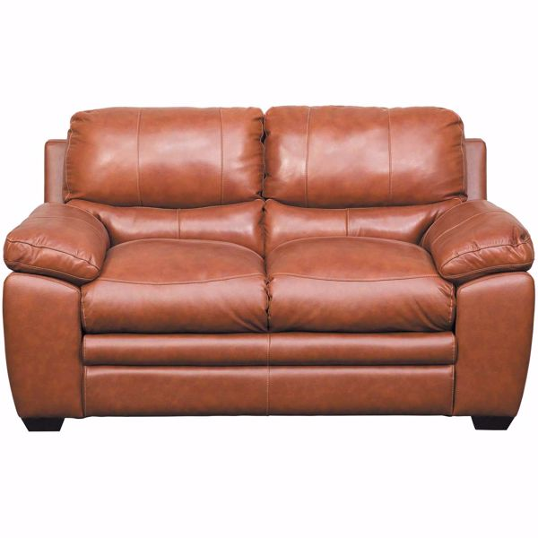 Picture of Logan Tobacco Brown Leather Loveseat