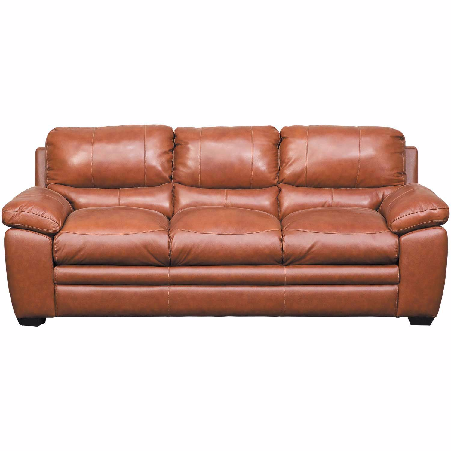 Logan Tobacco Brown Leather Sofa