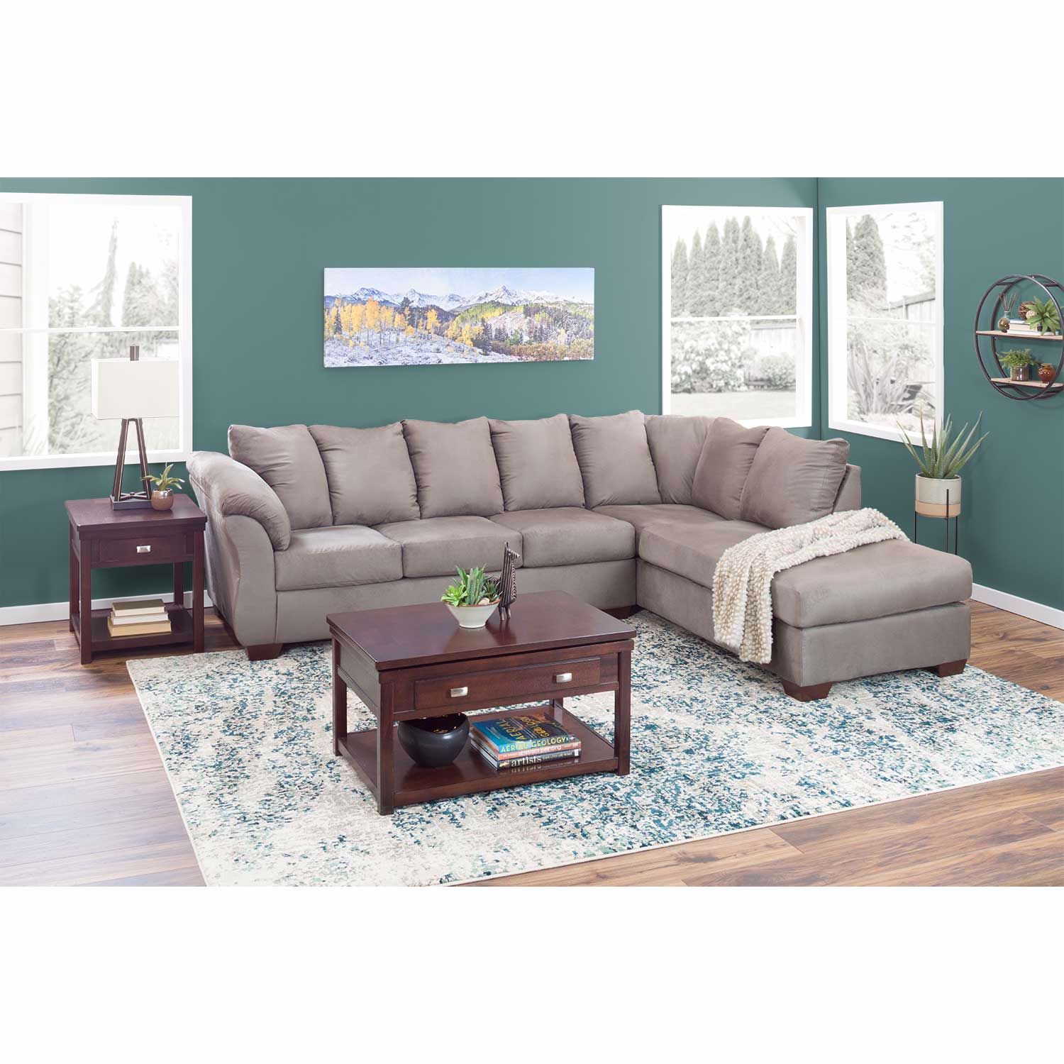 Picture of Darcy Cobblestone Gray 2 Piece Sectional w/ RAF Chaise