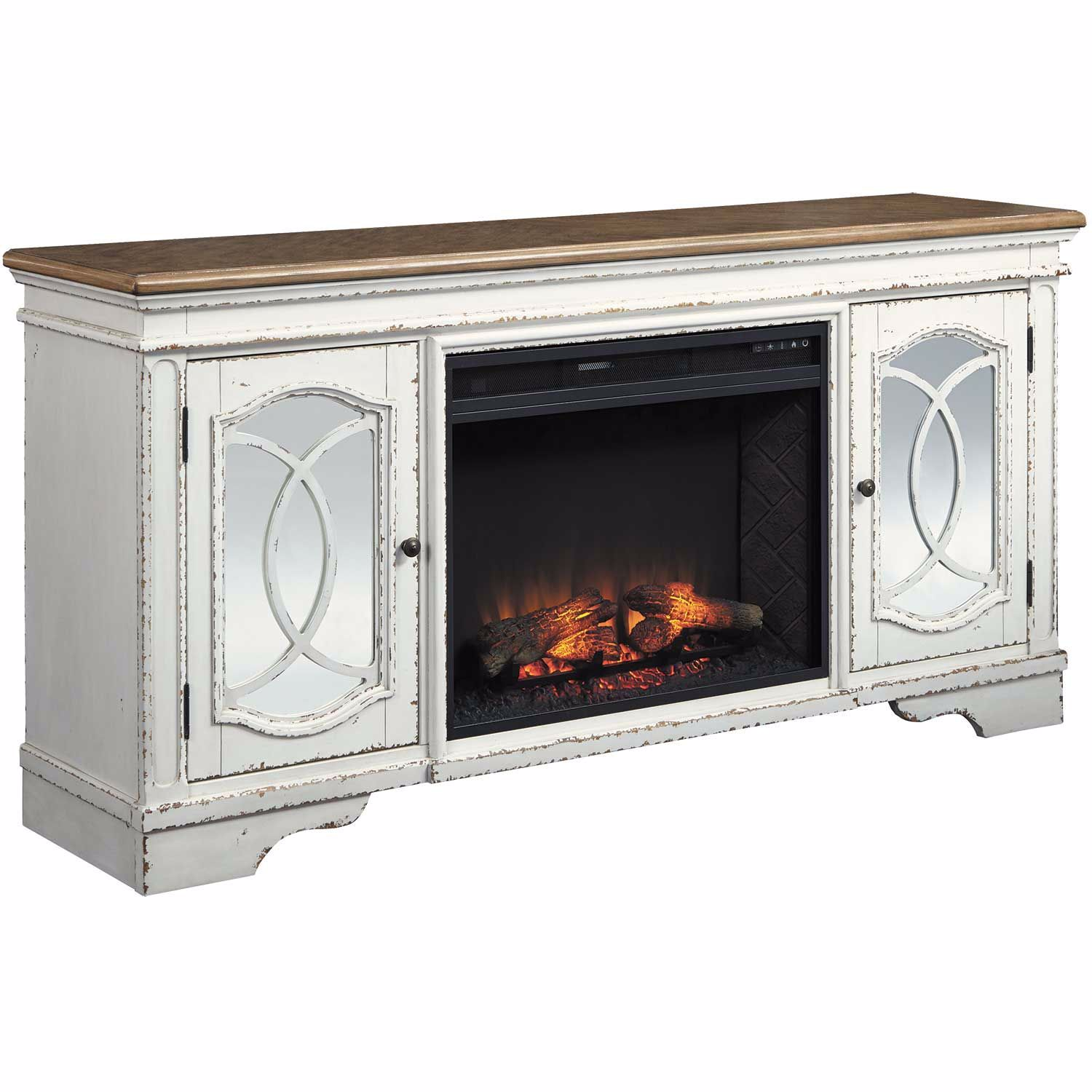 Realyn Fireplace TV Stand W743-68/W100-121 | Ashley ...