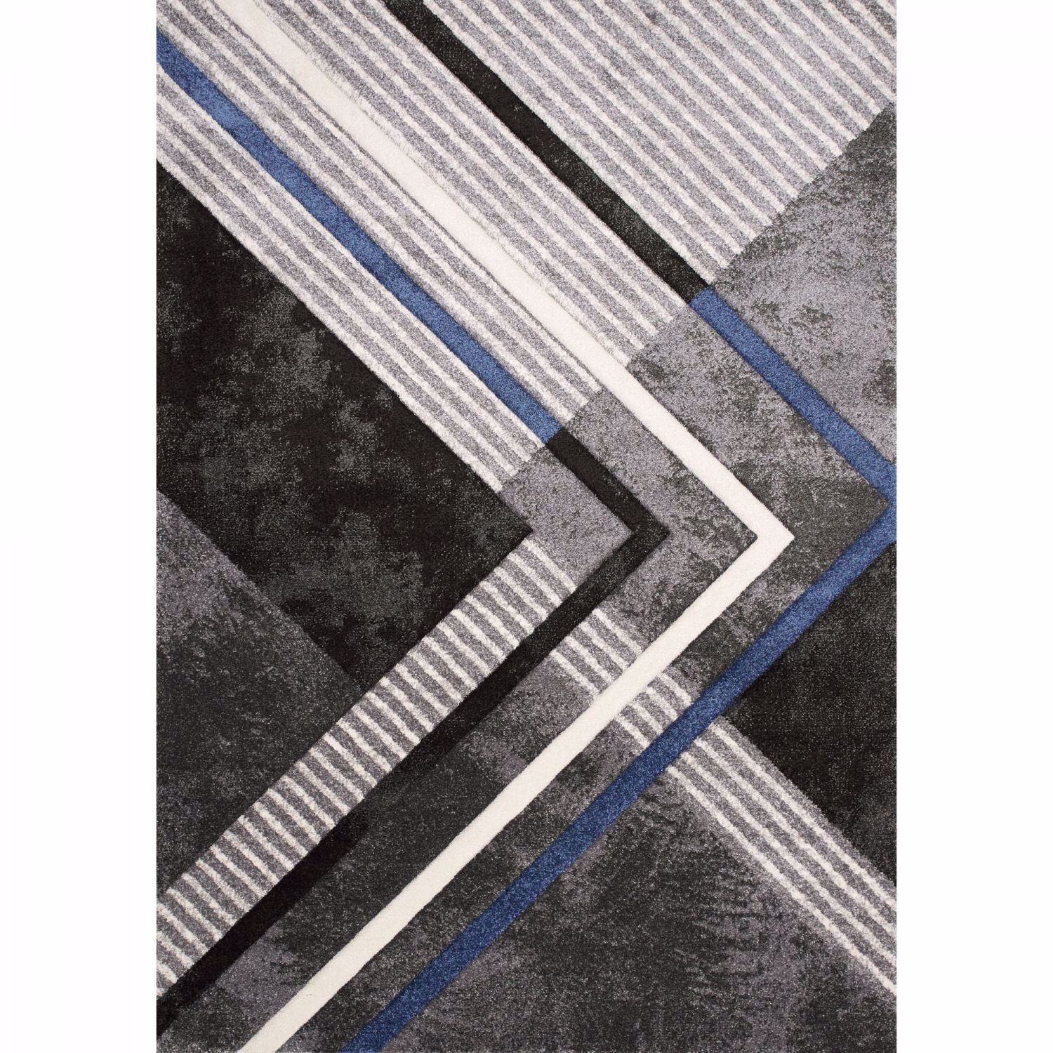 Picture of Charcoal Blue White Graphic 8x10 Rug