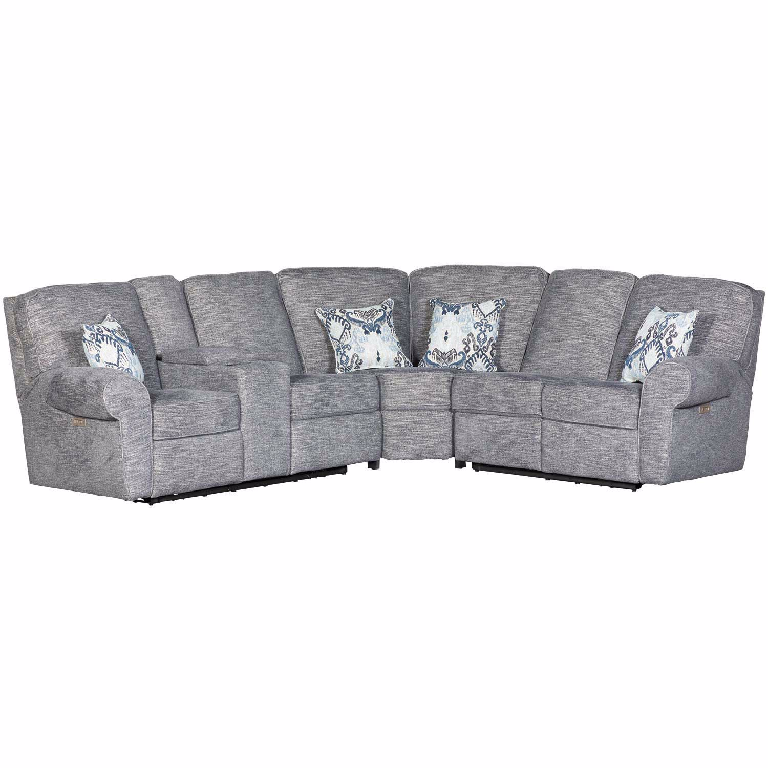 Brilliant 3Pc Power Reclining Sectional W Raf Loveseat Uwap Interior Chair Design Uwaporg