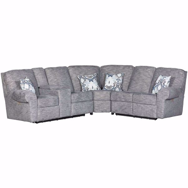 Picture of 3pc Power Reclining Sectional w/ RAF Loveseat