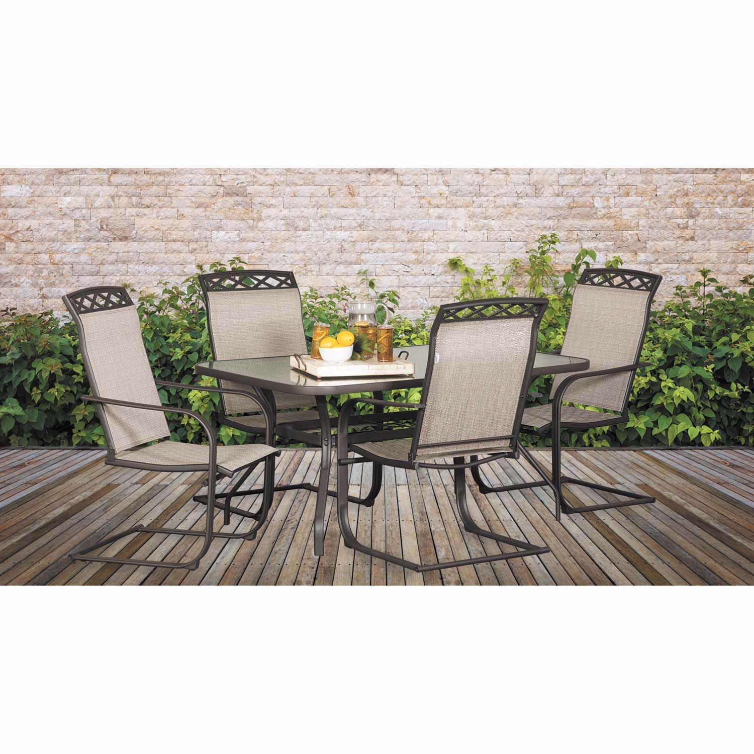 Picture of Covington Glass Top Patio Dining Table