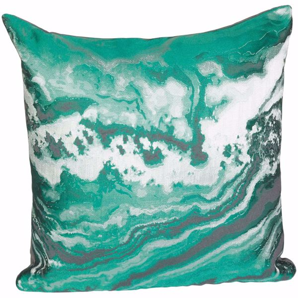 Picture of Green Marble 16 Inch Decorative Pillow *P