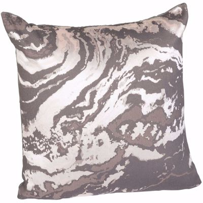 Picture of Gray Marble 16 Inch Decorative Pillow *P