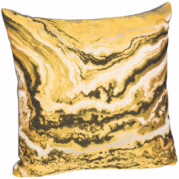 Picture of Yellow Marble 16 Inch Decorative Pillow *P