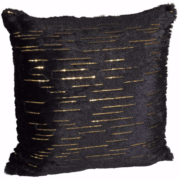 Picture of Bring In The New Year Black 18 Inch Decorative Pillow *P