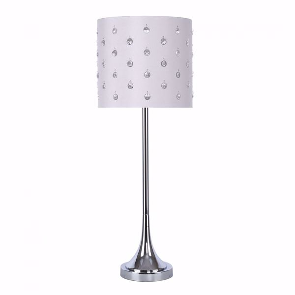 Picture of Chrome Buffet Lamp With Bead Shade