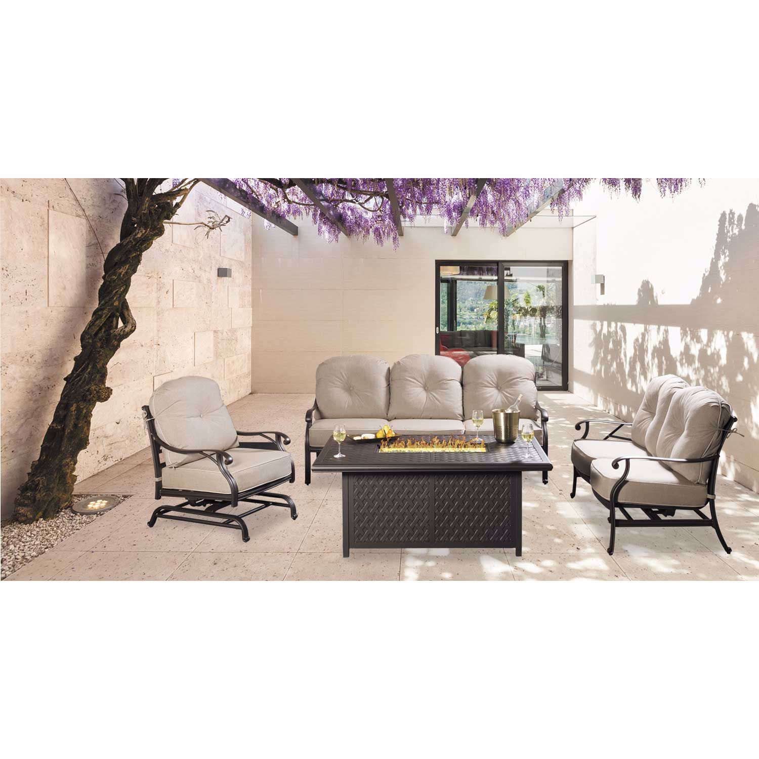 Picture of MacII Rectangular Gas Fire Pit