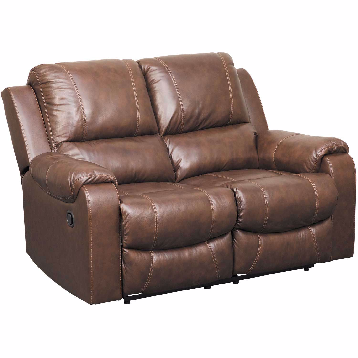 Picture of Rackingburg Mahogany Leather Reclining Loveseat