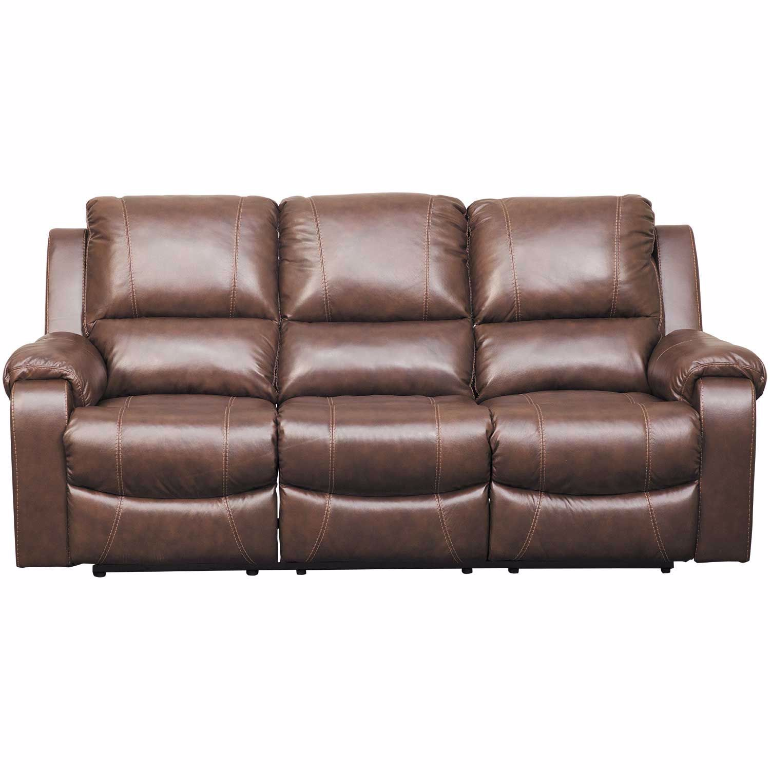 Rackingburg Mahogany Leather Reclining Sofa