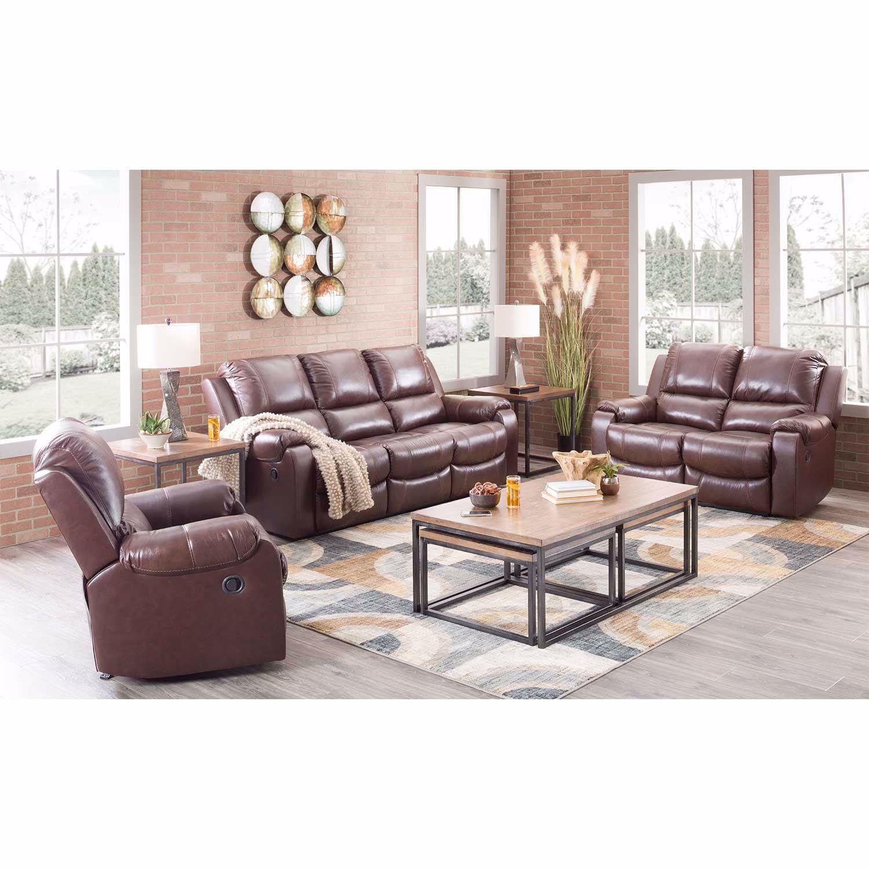 Picture of Rackingburg Mahogany Leather Reclining Sofa