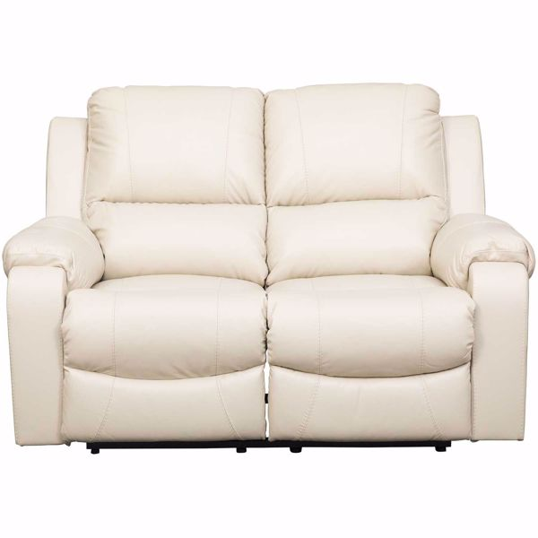 Picture of Rackingburg Cream Leather Reclining Loveseat