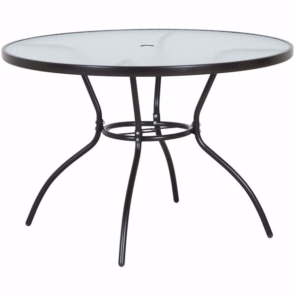 """Picture of Oscar 42"""" Round Glass Top Table"""