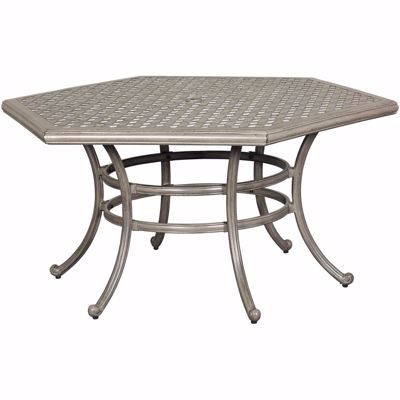 "Picture of Macon 54"" Hexagon Patio Table"