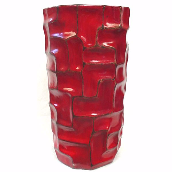 Picture of Red Floor Textured Vase