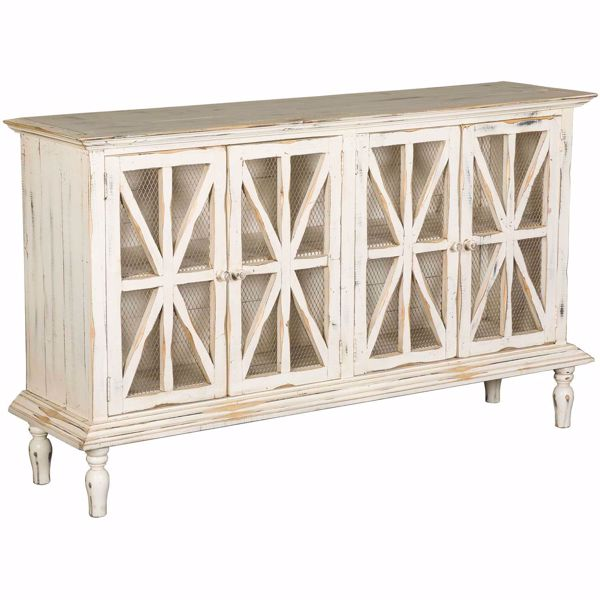 Picture of Michael Angelo Antique White Sideboard