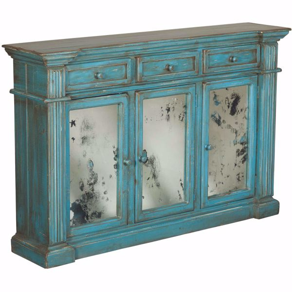 Picture of Michael Angelo Blue Sideboard