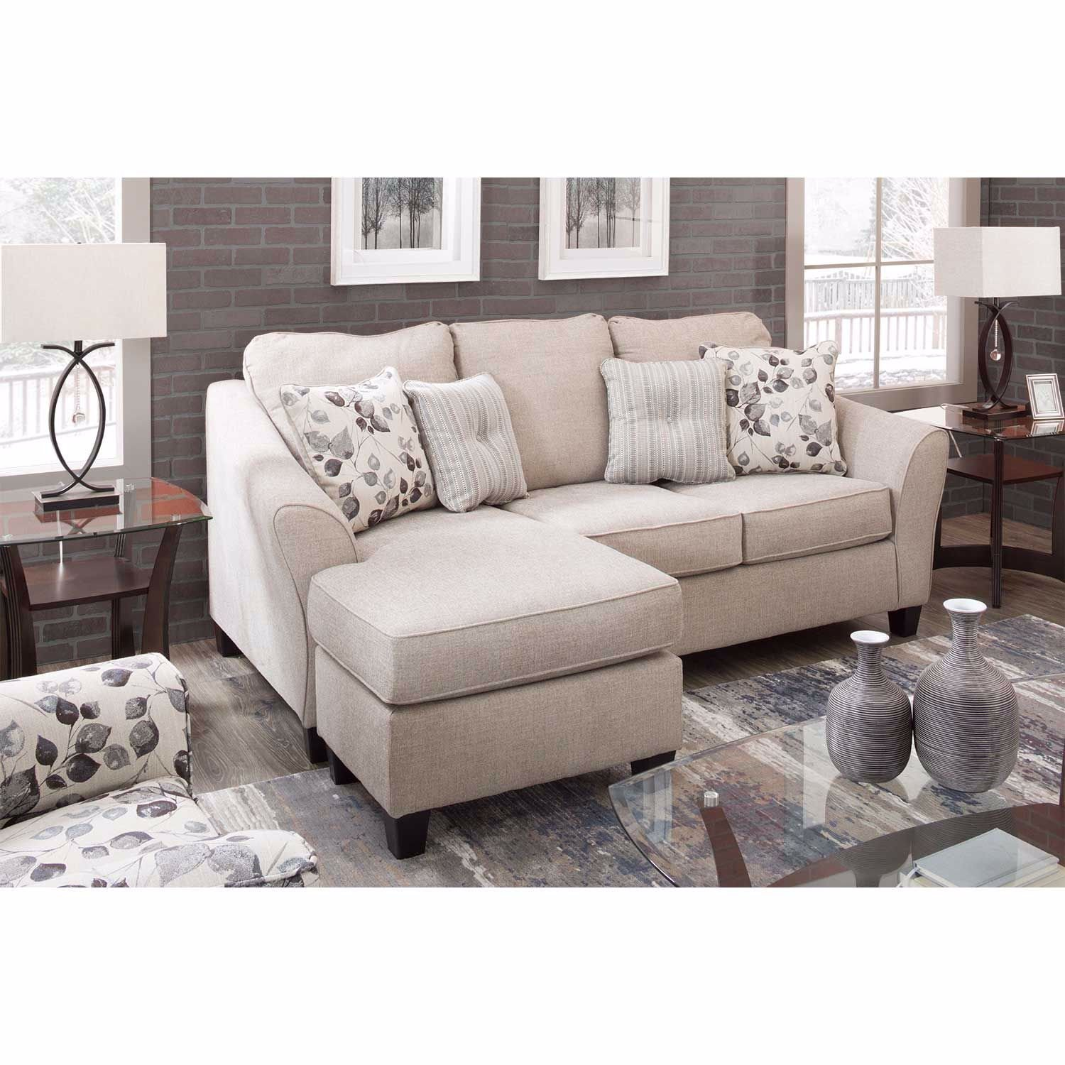 Abney Driftwood Reversible Queen Sleeper Sofa Chaise