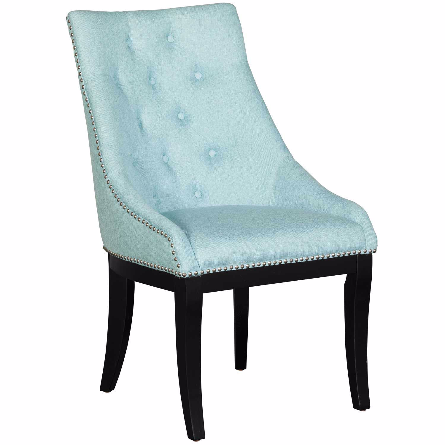Picture of Celeste Blue Wingback Accent Chair