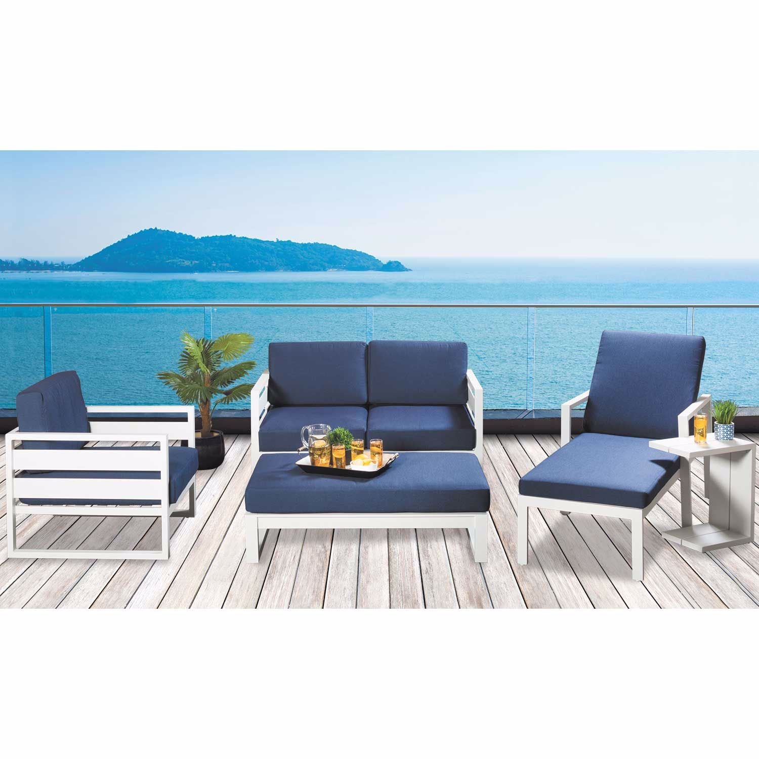 Picture of Capri Patio Chaise with Cushion