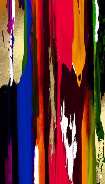 Picture of Bright Colorful Abstract 30x60