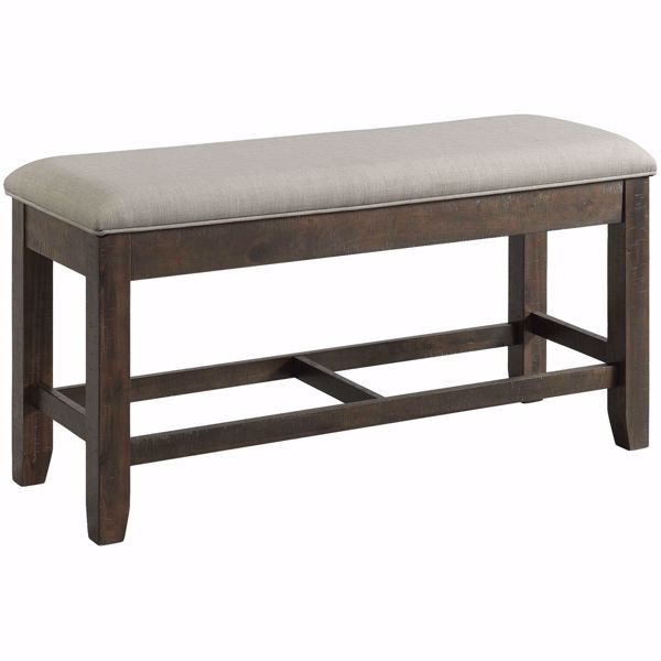 Picture of Colorado Counter Height Upholstered Seat Bench with Storage