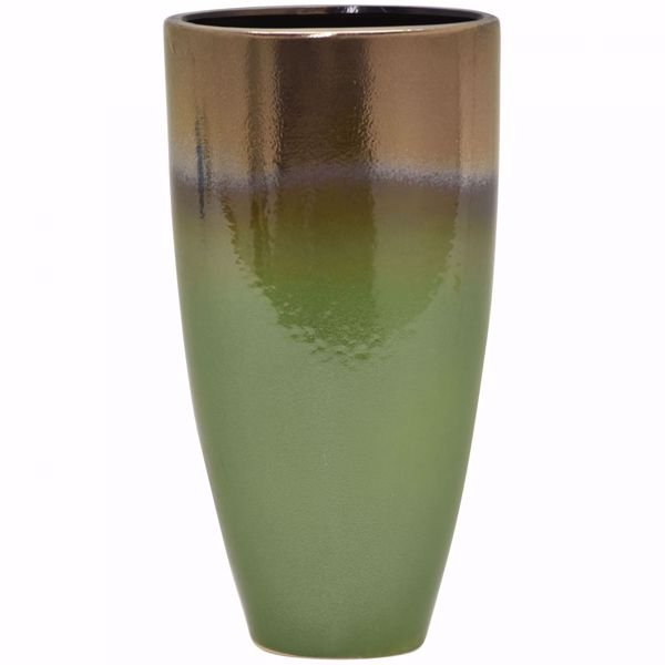 Picture of Green Gold Vase Tall