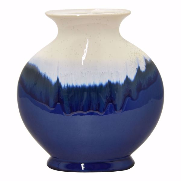 Picture of Blue White Drip Vase