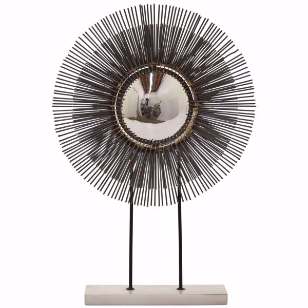 Picture of Metal Sculpture On Marble Stand