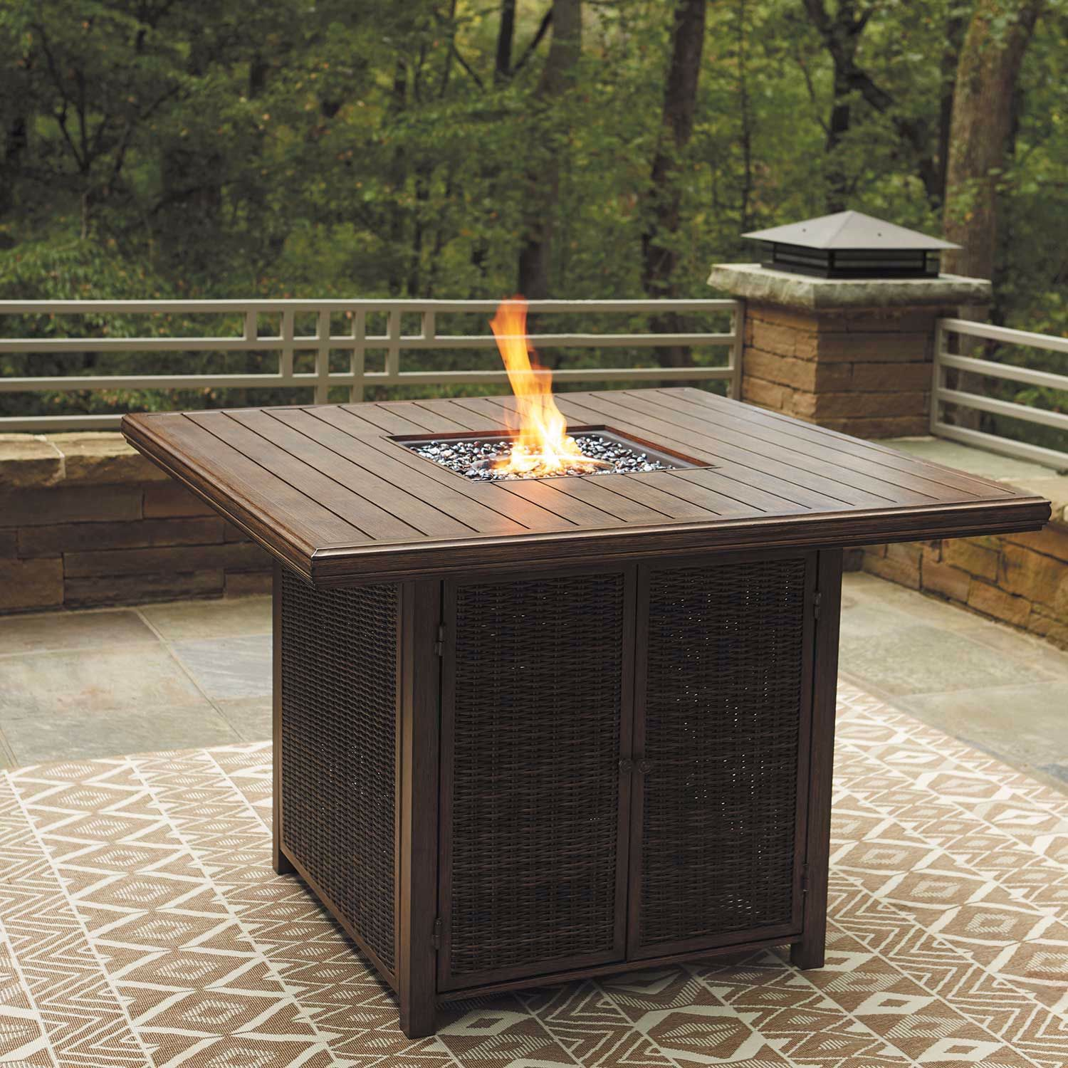 """Picture of Paradise Trail 56"""" Fire Pit Table"""