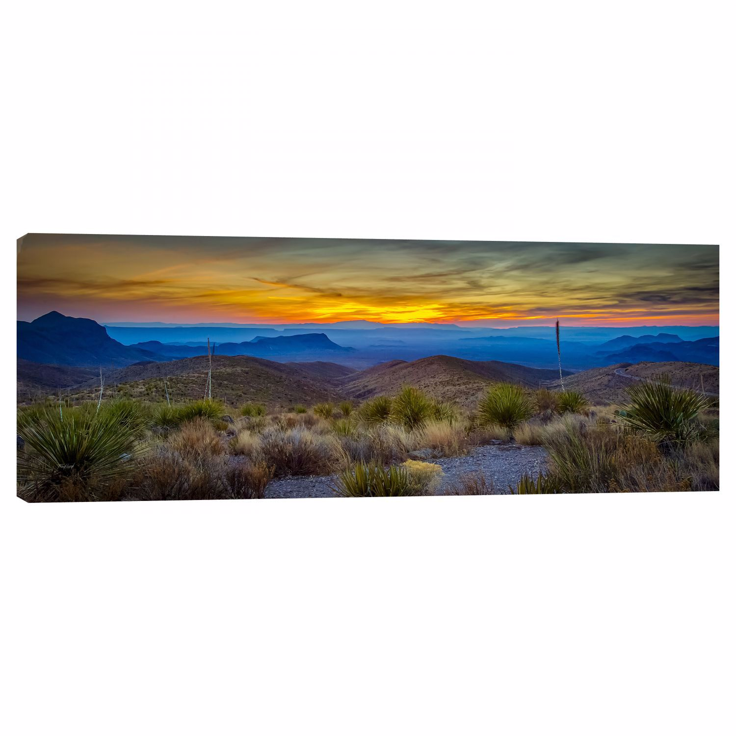 Picture of Big Bend Sunset 12X36 *D