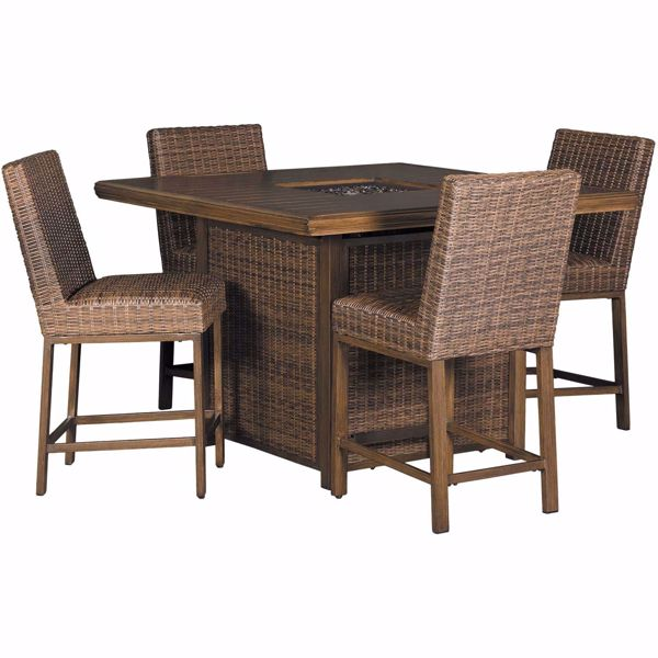 Picture of Paradise Trail 5 Piece Outdoor Patio Set