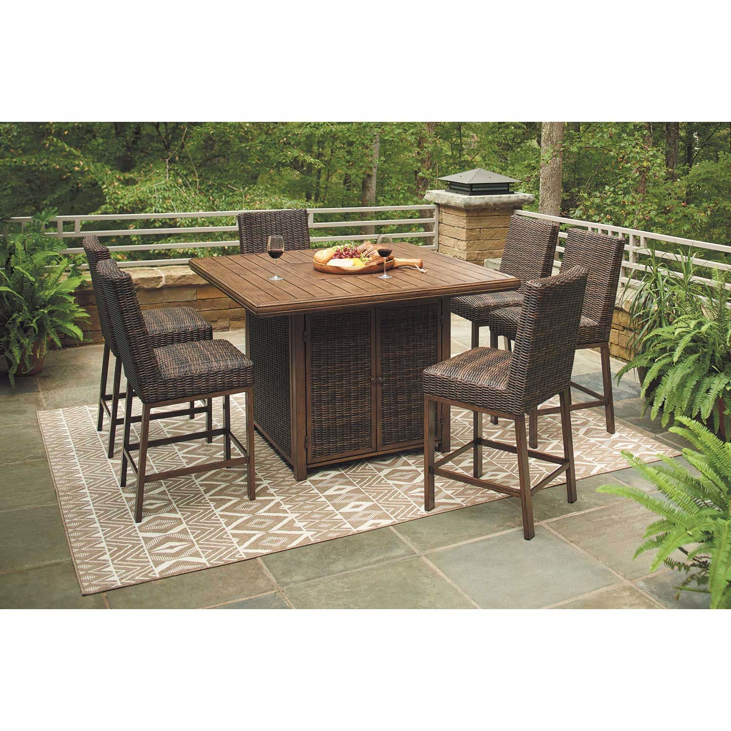 Picture of Paradise Trail 7 Piece Outdoor Patio Set