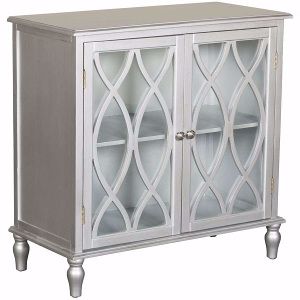 Picture of Two Door Silver Accent Cabinet