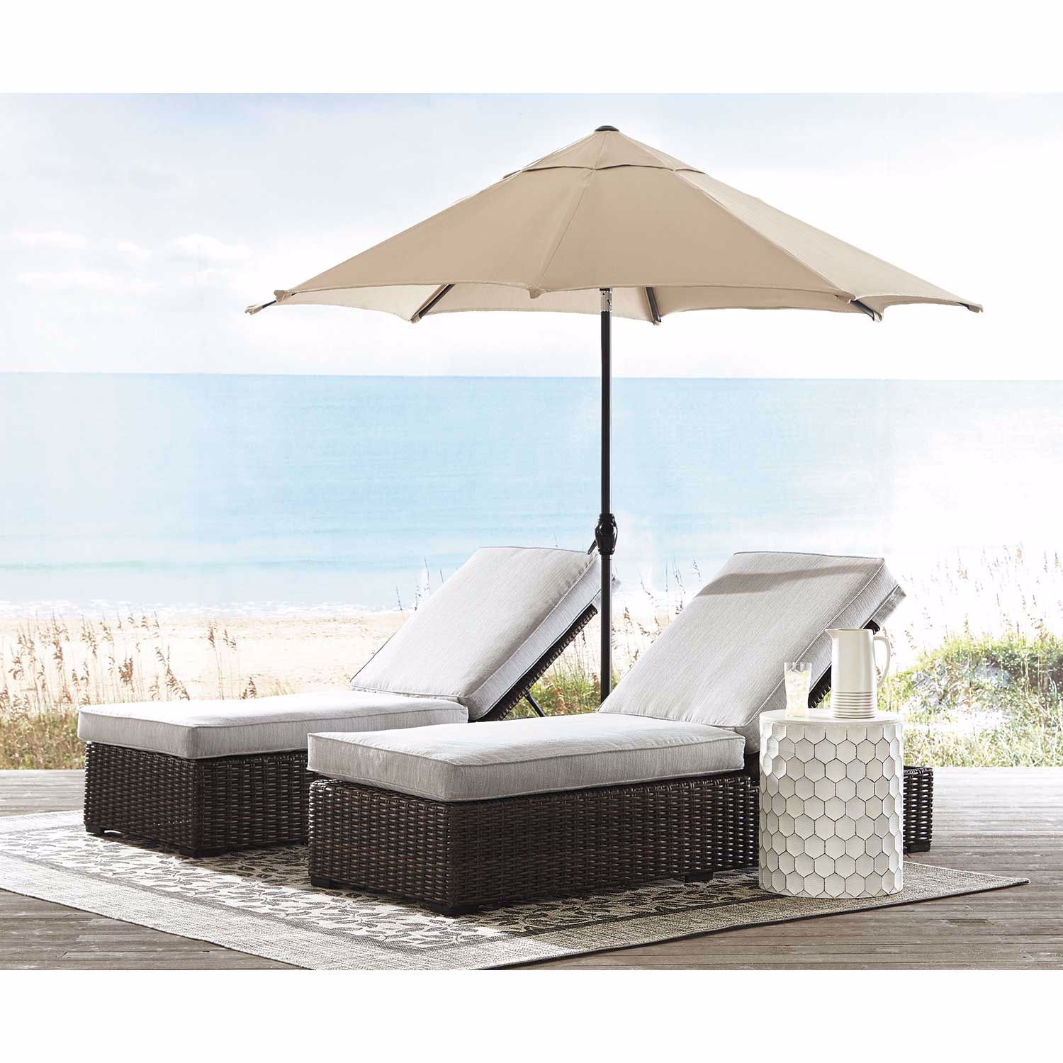 Picture of Alta Grande Outdoor Chaise with Cushion