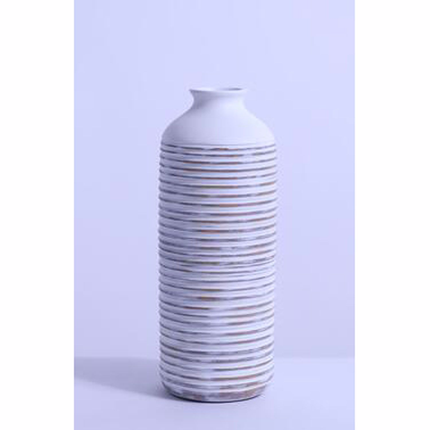Picture of White Circular Etch Vase