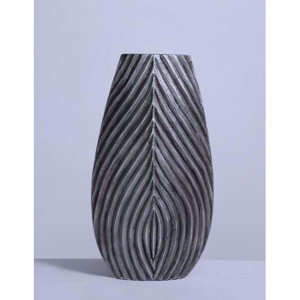 """Picture of Black Etched Vase 20"""""""