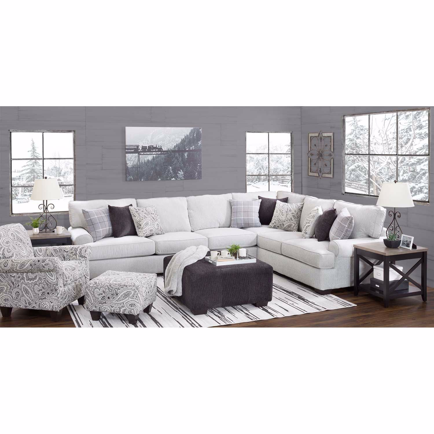 Griffin 2pc Sectional With Laf Sofa