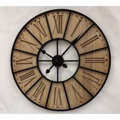 Picture of Wood Iron Wall Clock