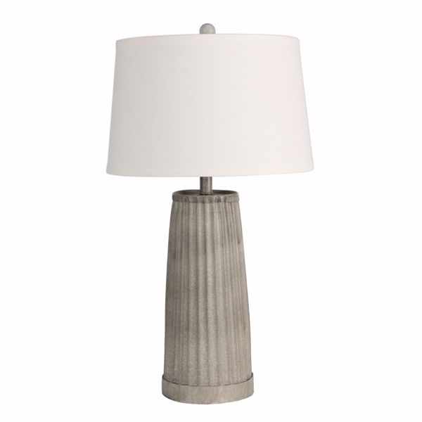 Picture of Grey Cement Look Lamp