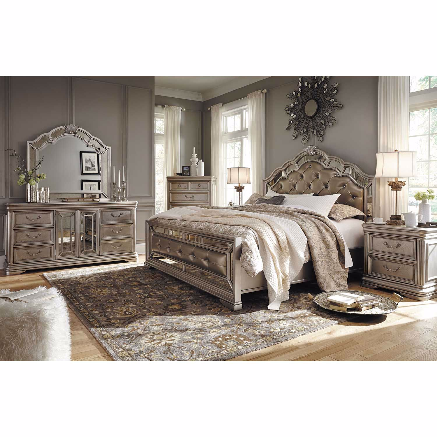 Picture of Birlanny King Panel Bed